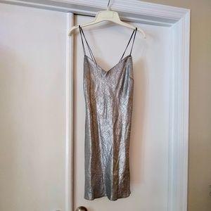 VTG Fab Silver Party Mini Dress